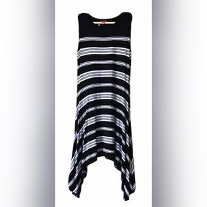 🌺3/$35 EUC VINCE CAMUTO Striped Asymmetric Dress